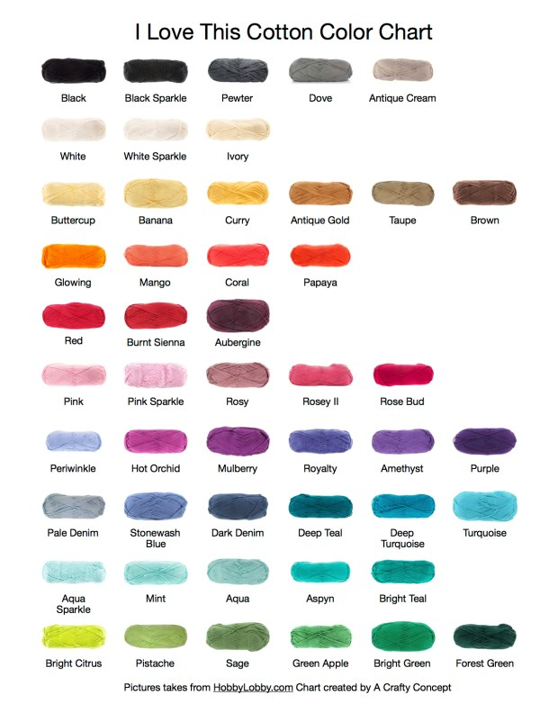 I love this cotton color chart a crafty concept