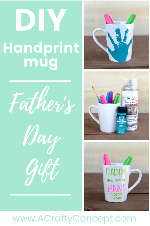 Fathers Day is just around the corner and these adorable punny handprint mugs are the perfect DIY Fathers Day gift! These mugs are easy to make, ...