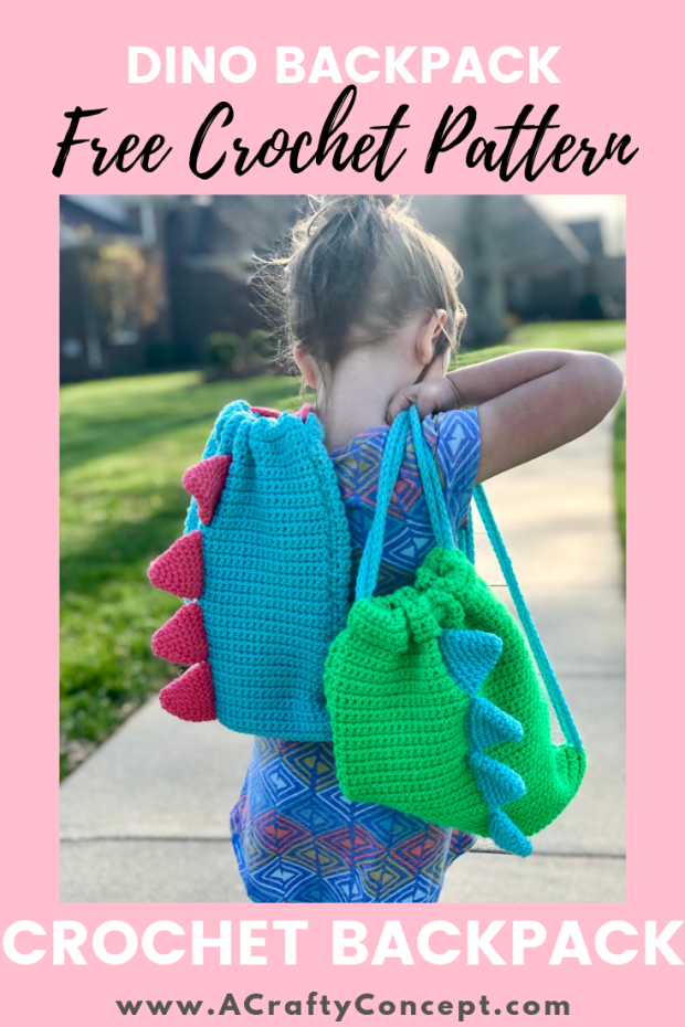 Easy Crochet Dinosaur Backpack- Simple Free Pattern With Video