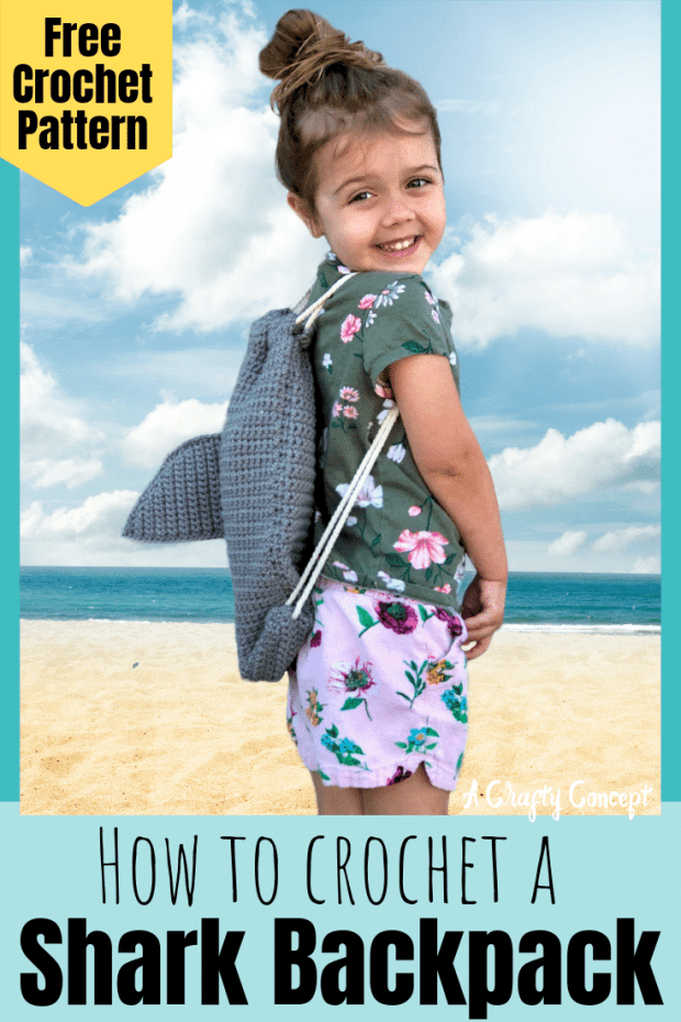 An easy crochet shark pattern that's bound to make a splash this summer! Shark Fin Backpacks are great gifts for kids and are perfect for selling at summer markets!
