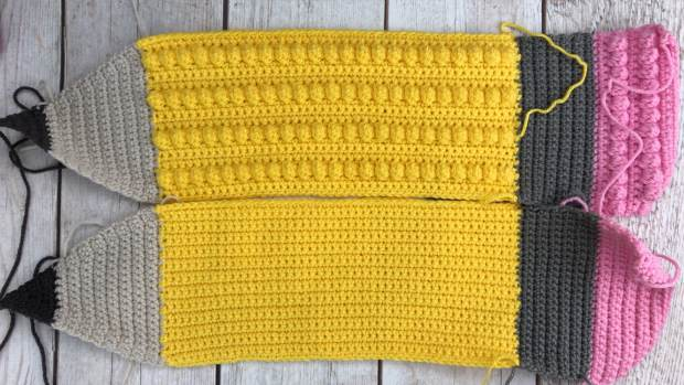 A beginner-friendly, step by step guide showing how to make an adorable crochet pencil pillow with both photo and video instructions.