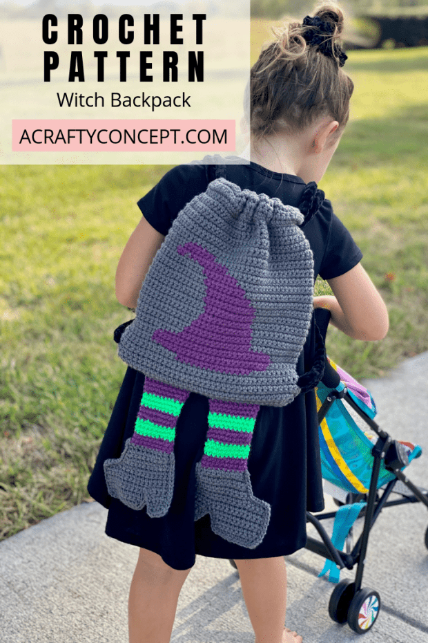 Learn step-by-step how to make this spooktacular witchy crochet backpack just in time for Halloween. Free tutorial includes video, photo and written instruction.
