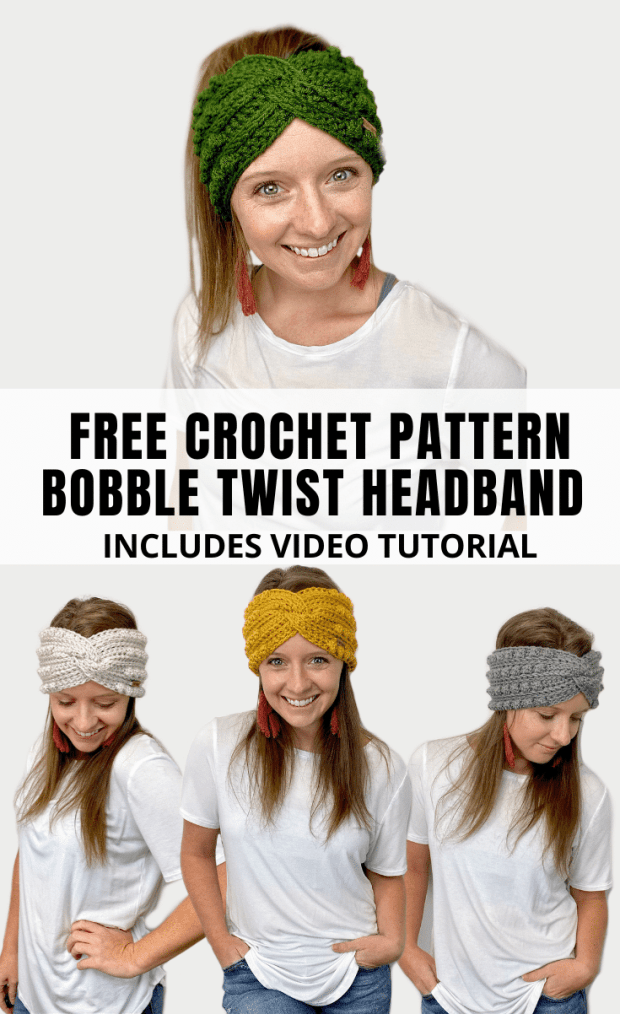 Learn how to make this super trendy crochet twisted headband style ear warmer. Full video tutorial included!