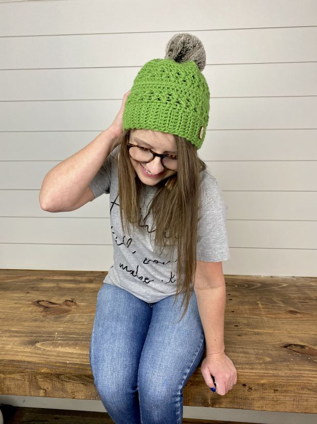 This free crochet beanie pattern is perfect for beginner to intermediate crocheters. It includes sizes for the whole family and step by step stitch and progress photos. Grab your free PDF here!
