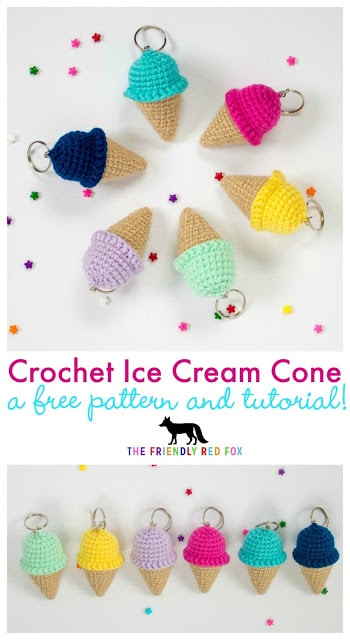 Crochet Ice Cream Key Chains