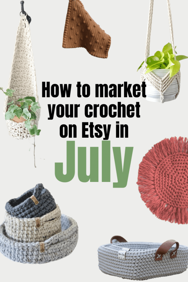 Learn how to optimize your Etsy shop by finding out what is trending on for July 2020 and how you can sell your crochet products this month!