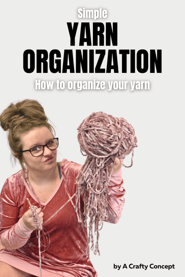 Learn this simple yarn organization method to help you store and organize all your leftover yarn after a crochet project.