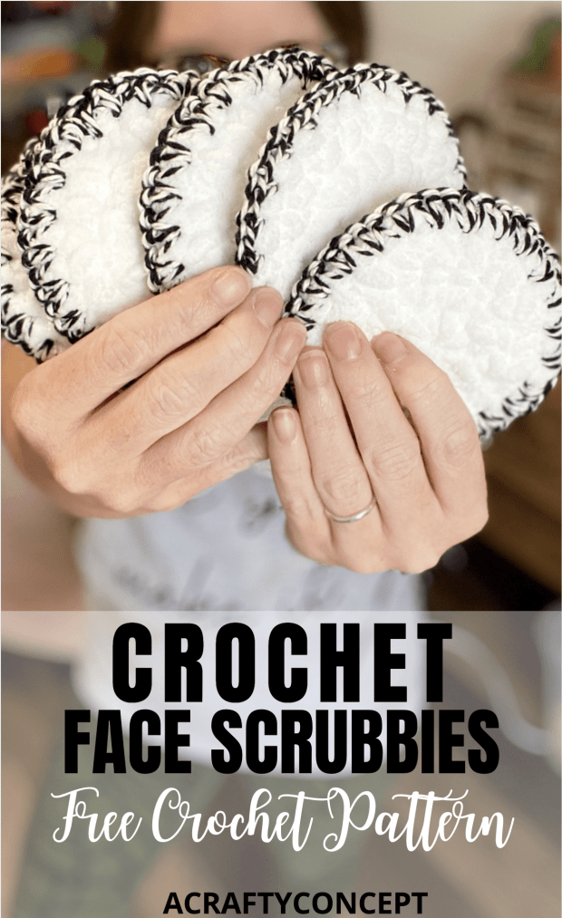 Free crochet facial rounds pattern