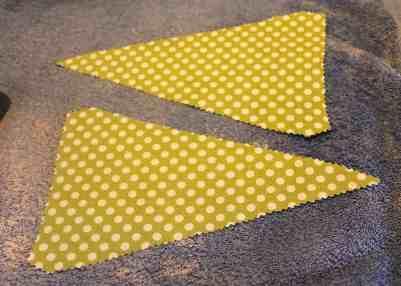 cut fabric pennant