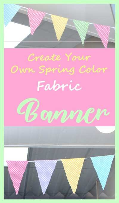 Spring Fabric Banner