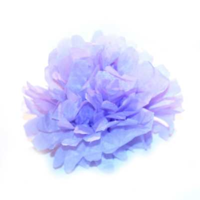Finished Lavender Tissue Paper Flower