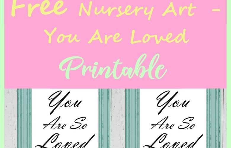 Free nursery Art printable