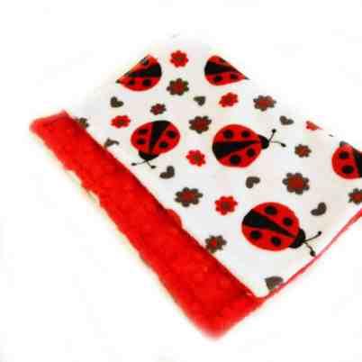 Ladybug burp cloth - Ladybug Nursery - Ladybug Baby Gift