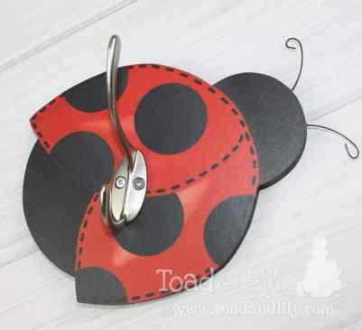 Ladybug clothing hook - ladybug nursery