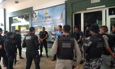 Polícia Militar começou uma operação pelo Conjunto Habitacional Cidade do Povo, em Rio Branco — Foto: Tálita Sabrina/Rede Amazônica Acre