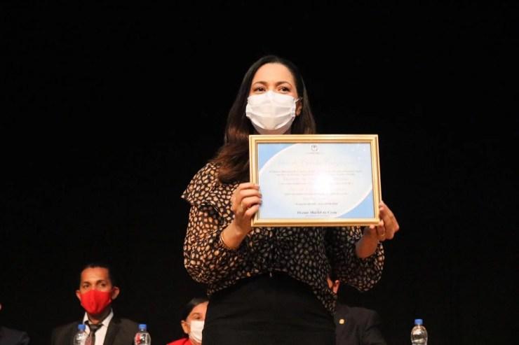 Senadora Mailza é a nova Cidadã Cruzeirense