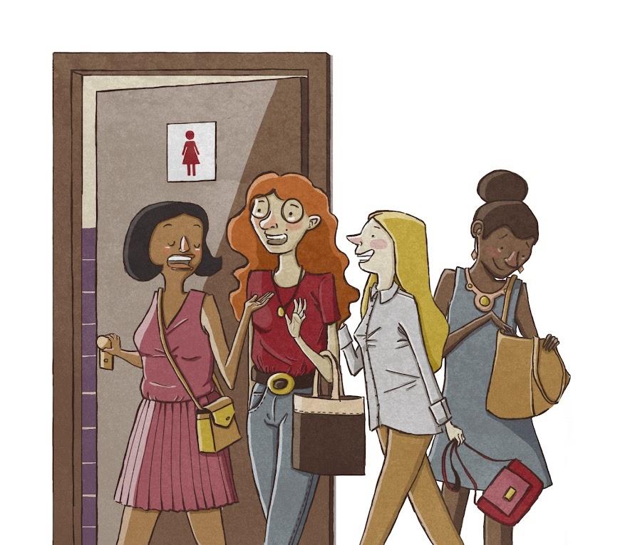 mulheres banheiro