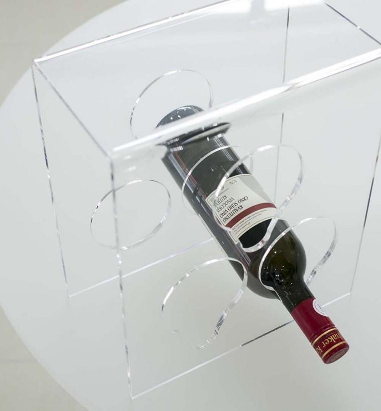 porta botellas de vino en acrílico