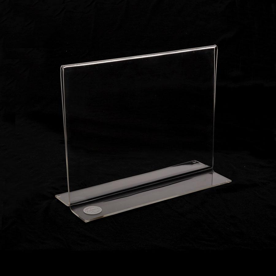 Porta hojas en acrílico tamaño carta horizontal para escritorio