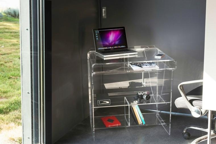 escritorio de acrílico