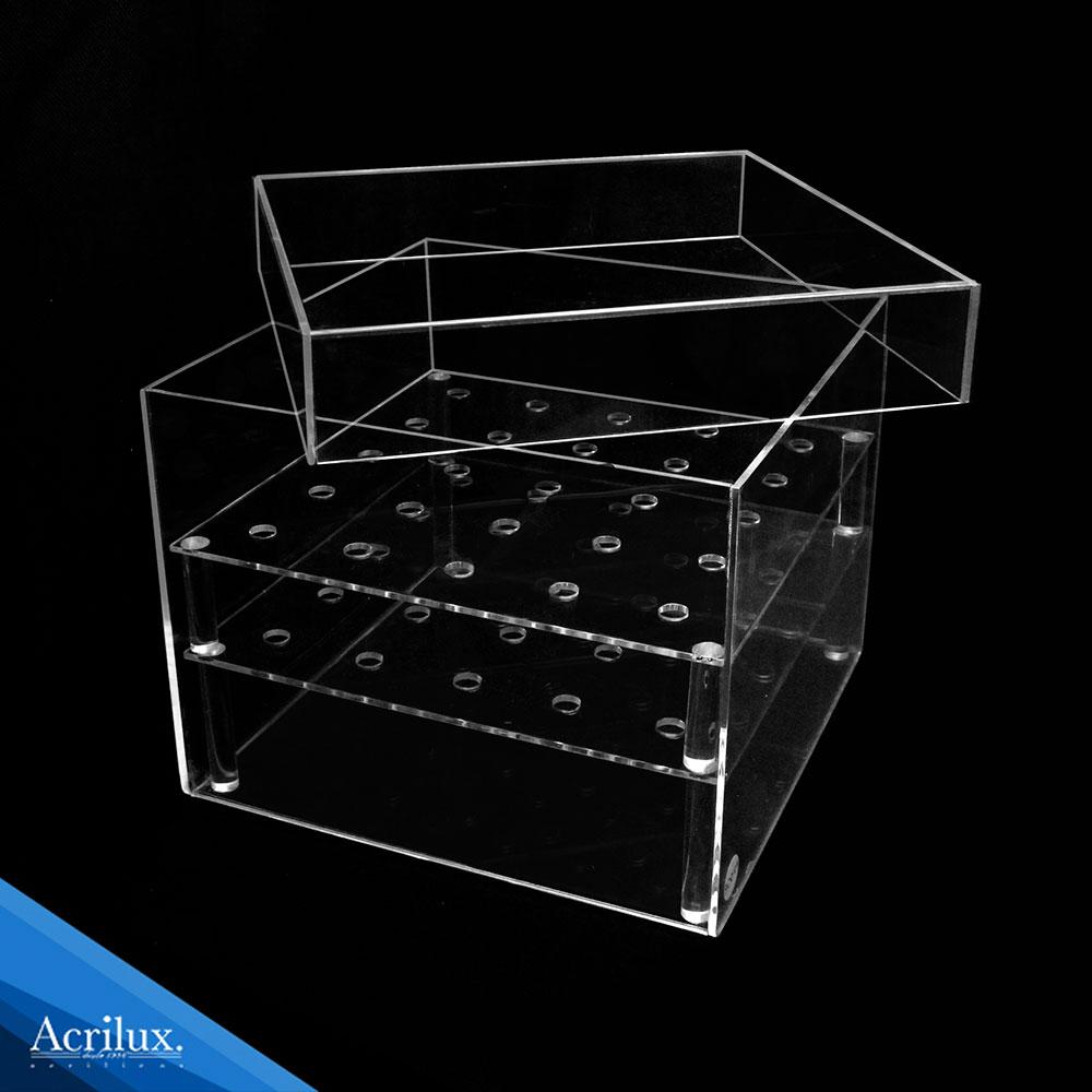 caja de acrílico