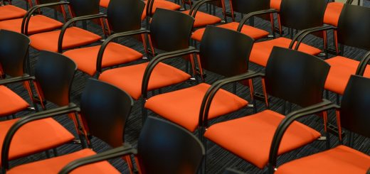 Image of seats at a conference