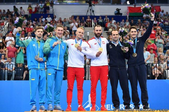 Anton Davydenko and Mykola Prostorov, Lukasz Jaworski and Artur Zakrzewski, and Allan Morante and Sebastien Martiny