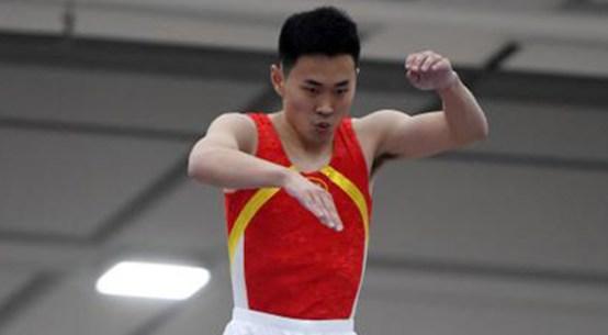 Chinese trampolinist Gao Lei