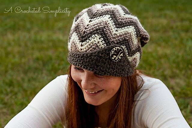 """Crochet Pattern: """"Chasing Chevrons"""" Slouch by A Crocheted Simplicity"""