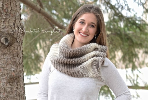 Free Crochet Pattern - Aveline Reversible Crochet Scarf by A Crocheted Simplicity