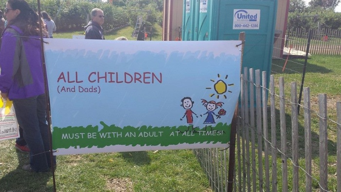 Orchard Sign Dads Need Adult