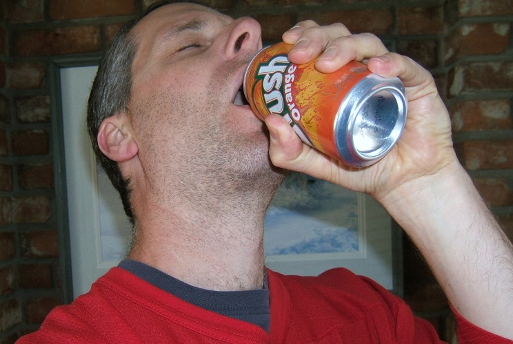 A Crock of Schmidt Enjoying Orange Crush