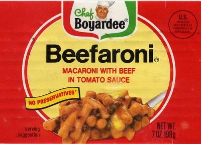 Beefaroni Label
