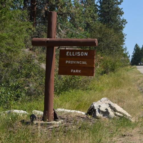 Ellison Provincial Park Sign