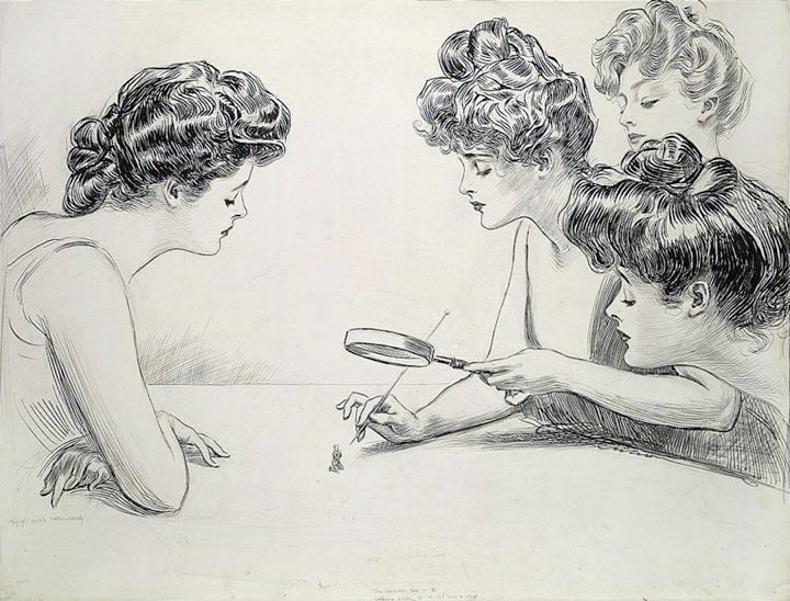 Gibson_Girls_Magnifying_Glass_by_Charles_Dana_Gibson