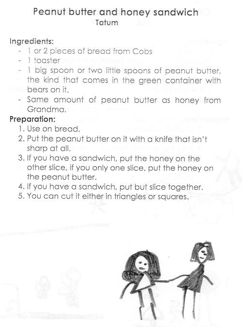 Peanut Butter and Honey Sandwich