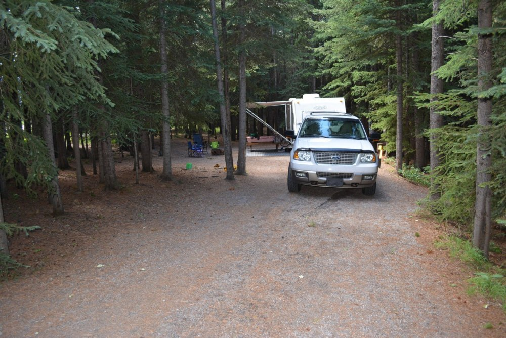 Typical Site in Loop C at Mount Kidd RV Park