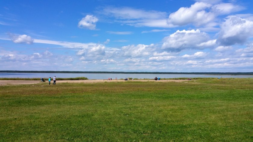 Beach Area at Miquelon Lake