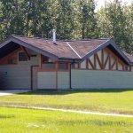 Shower Building at Miquelon Lake