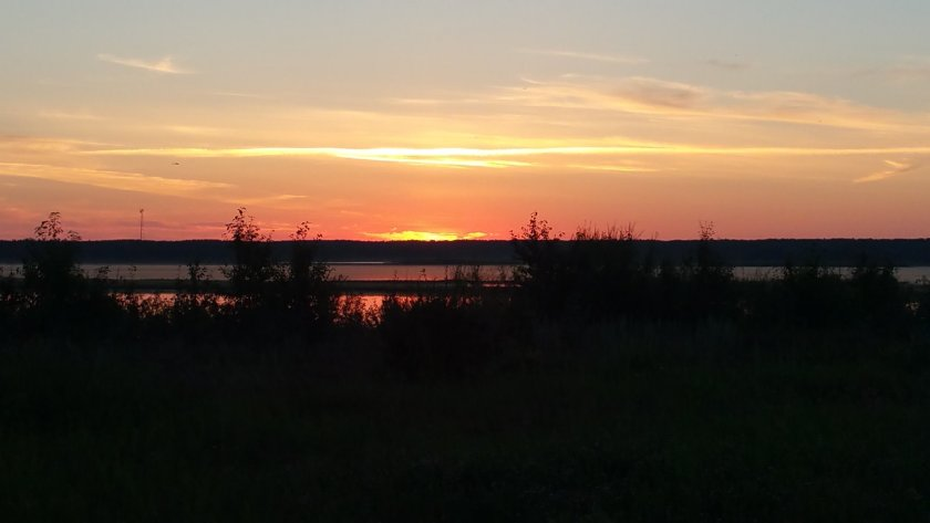 Sunset At Miquelon Lake