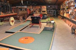 hand built mini-golf course