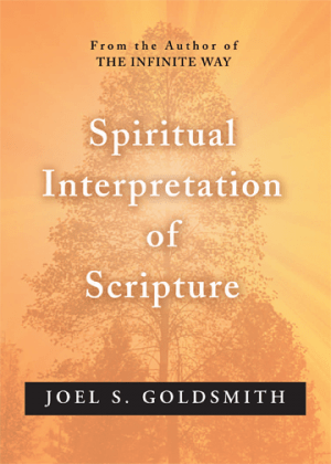 Facsimile of book cover for Spiritual Interpretation of Scripture.