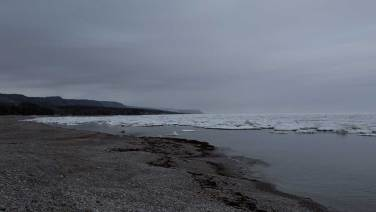 Auf dem Weg zum Cabot Trail: der halbe Atlantik ist noch eisbedeckt