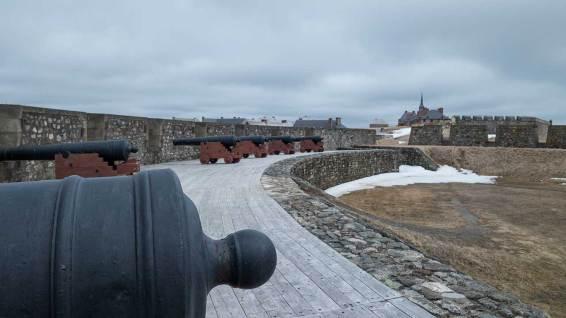 Fortress of Louisbourg: hier schossen die Franzosen auf die Engländer