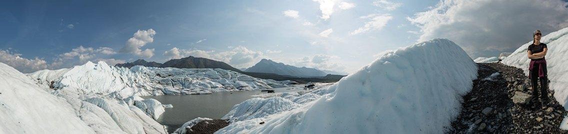 Hiking im Matanuska Glacier.