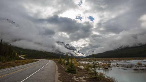 Der Icefields Parkway ist traumhaft schön.