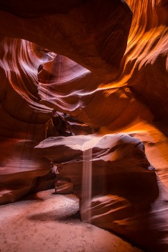 «Sandwasserfall» im Upper Antelope Canyon.