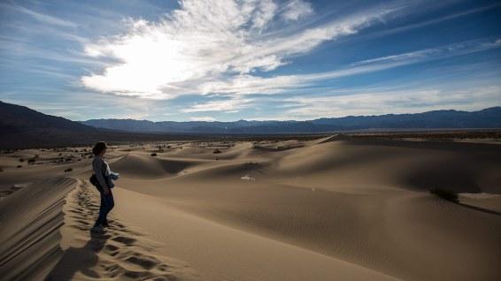 Sand hat's auch im Death Valley. Und nicht zu knapp.