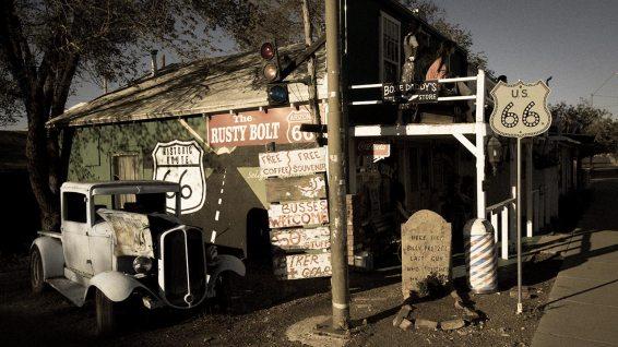Route 66: Alles zerfällt langsam, was auch seinen Charme hat.