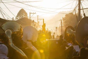 Sonnenaufgang an der Semana Santa in Antigua.
